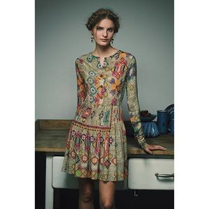 Hemant and Nandita Pintucked Prisma Dress Size 8